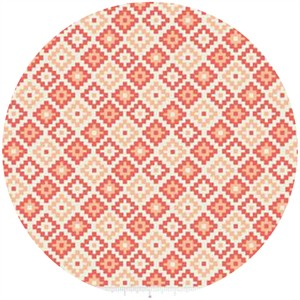Design by Dani for Riley Blake, Woodland Spring, Geometric Coral