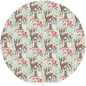 Design by Dani for Riley Blake, Woodland Spring, Main Aqua