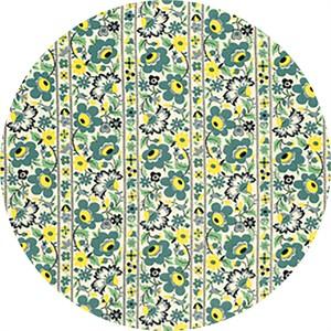 Denyse Schmidt for Free Spirit, Eastham, Floral Stripe Juniper