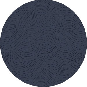 Rae Ritchie for Dear Stella, Dreamscape, Scallop Dot Navy