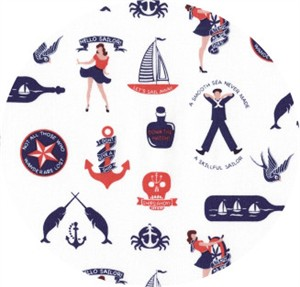 Dear Stella, Hello Sailor, Maritime Fun White