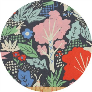 Emily Isabella for Birch Organic Fabrics, Wonderland, Wonderland Main Dusk