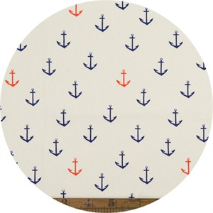 Emily Winfield Martin for Birch Organic Fabrics, Saltwater, KNIT, Anchors Aweigh