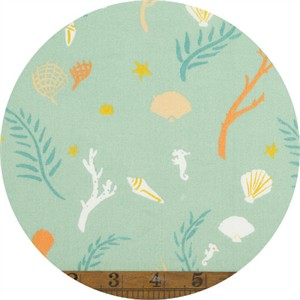 Emily Winfield Martin for Birch Organic Fabrics, Saltwater, Flotsam and Jetsam Seamint