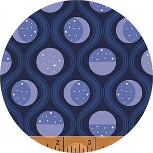 Felice Regina for Windham Fabrics, Luna Sol, Lunar Tide Midnight