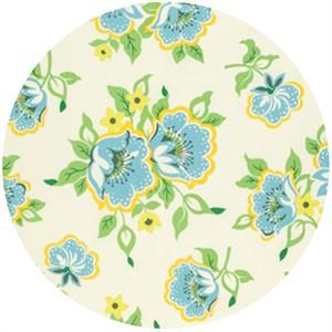 Heather Bailey for Free Spirit, Nicey Jane, Church Flowers Blue