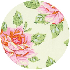 Heather Bailey for Free Spirit, Nicey Jane, Hello Roses Cream