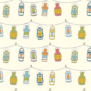 AVAILABLE FOR PREORDER, Jay-Cyn Designs for Birch Organic Fabrics, Camp Sur 3, Lanterns