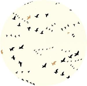 COMING SOON, Jay-Cyn Designs for Birch Organic Fabrics, Inkwell, CANVAS, Flight Black/Metallic