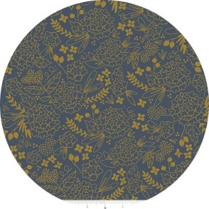COMING SOON, Jenn Allyson for Riley Blake, On Trend, Floral Navy Sparkle