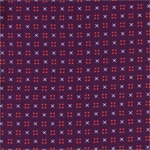Kimberly Kight for Cotton and Steel, Penny Arcade, X Dot Purple