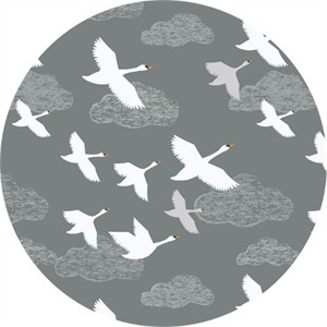 Lewis & Irene, Down By The River, Swans in Flight Grey