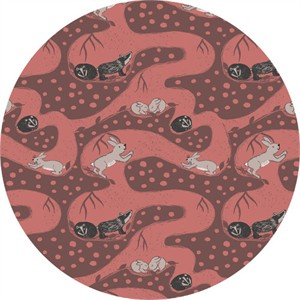 COMING SOON, Lewis & Irene, Enchanted Forest, Bunny Tunnels Clay Red