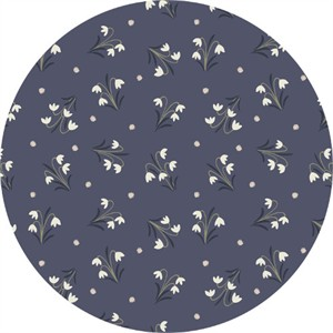 Lewis & Irene, Enchanted Forest, Snowdrops Midnight Blue