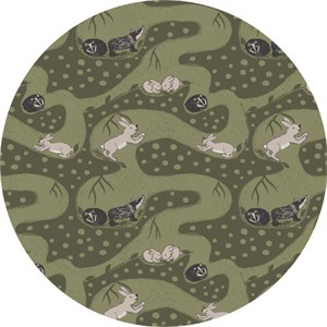 COMING SOON, Lewis & Irene, Enchanted Forest, Bunny Tunnels Forest Green