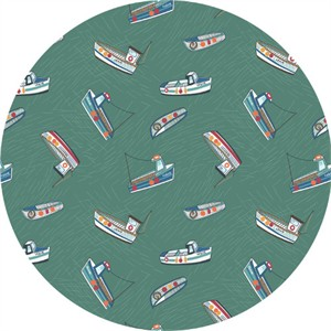 Lewis & Irene, Harbour Side, Fishing Boats Sea Green