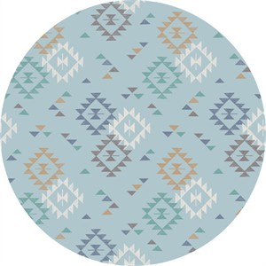 Lewis & Irene, To Catch A Dream, Triangle Print Light Blue