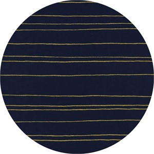 Melody Miller for Cotton and Steel, Fruit Dots, Gold Stripe Navy Metallic