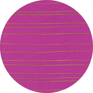 Melody Miller for Cotton and Steel, Fruit Dots, Gold Stripe Orchid Metallic