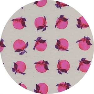 Melody Miller for Cotton and Steel, Fruit Dots, Peaches Bright Pink