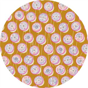 Melody Miller for Cotton and Steel, Trinket, Spools Yellow