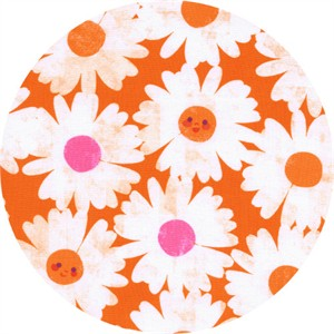 Melody Miller for Cotton and Steel, Trinket, Happy Garden Orange