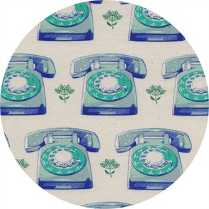 Melody Miller for Cotton and Steel, Trinket, Telephones Aqua