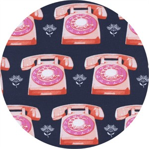 Melody Miller for Cotton and Steel, Trinket, Telephones Navy