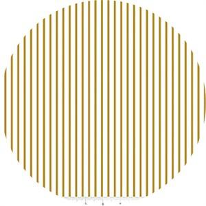 Melissa Mortenson for Riley Blake, Wonderland, Stripe Gold Metallic