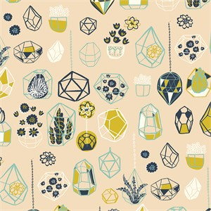 AVAILABLE FOR PREORDER, Miriam Bos for Birch Organic Fabrics, The Hidden Garden, Hanging Terrarium Shell