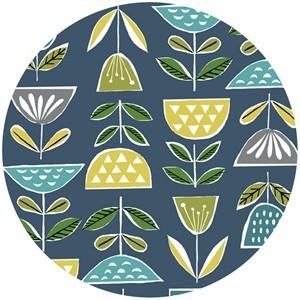 Monaluna, ORGANIC, Anya, BARKCLOTH, Mod Blooms
