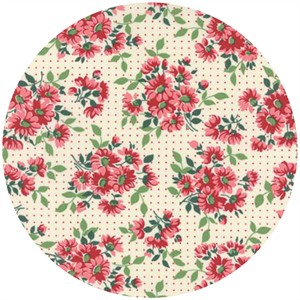 Moda, Bread N Butter, Dotted Daisy Ivory