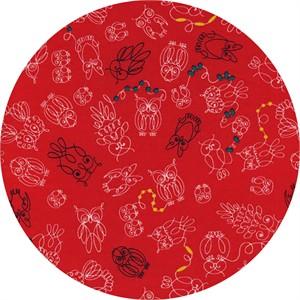 Rashida Coleman-Hale for Cotton and Steel, Macrame, Owl Bead There Tomato