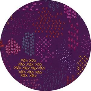Rashida Coleman-Hale for Cotton and Steel, Macrame, Pattern Guides Grape