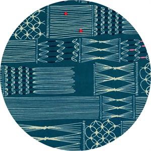 Rashida Coleman-Hale for Cotton and Steel, Macrame, Wall Hanging Deep Sea