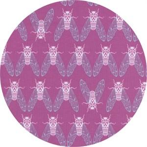 Rashida Coleman-Hale for Cotton and Steel, Raindrop, Cicada Song Dark Plum