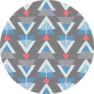 Rae Ritchie for Dear Stella, Snofall, Ski Trees Grey