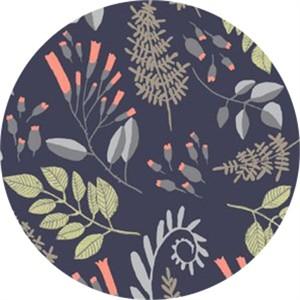 Rae Ritchie for Dear Stella, Foxtail Forest, Fern Bouquet Navy
