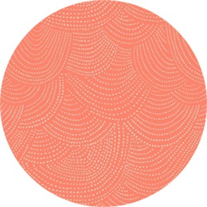 Rae Ritchie for Dear Stella, Foxtail Forest, Scallop Dot Tangerine