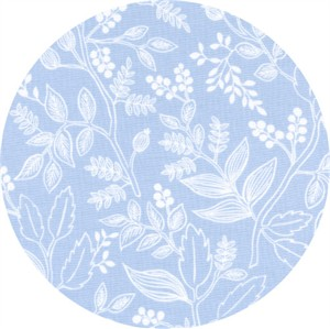 Rifle Paper Co. for Cotton and Steel, Les Fleurs, Queen Anne Pale Blue
