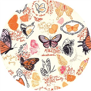 Sandi Henderson for Michael Miller, Strawberry Moon, Butterfly Sketchbook Orange