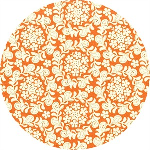 Sandi Henderson for Michael Miller, Strawberry Moon, Petit Henna Garden Orange