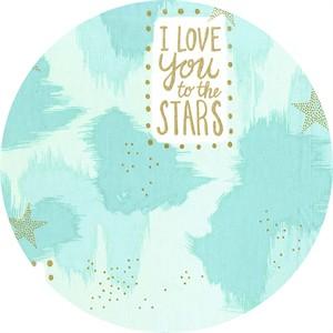 Sarah Jane for Michael Miller, Magic!, You Are Magic Metallic Turquoise