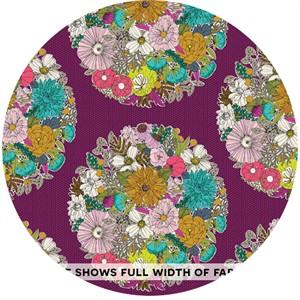 Sarah Watson for Cloud9, ORGANIC, Garden Secrets, VOILE, Bouquet Purple