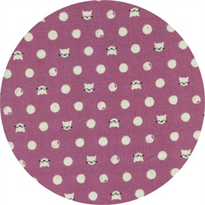 Sarah Watts for Cotton and Steel, Cat Lady, Friskers Lavender