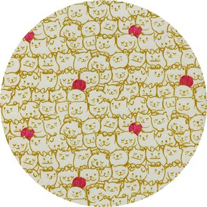 Sarah Watts for Cotton and Steel, Cat Lady, Stack-o-cats Mustard