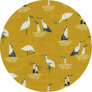 Sarah Watts for Cotton and Steel, From Porto With Love, Stork Nest Yellow