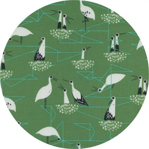 Sarah Watts for Cotton and Steel, From Porto With Love, Stork Nest Green