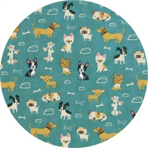 COMING SOON, Stacy Iest Hsu for Moda, Woof Woof Meow, Small But Mighty Turquoise