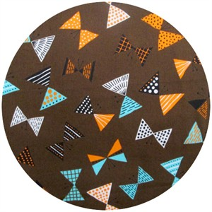 Cosmo Textiles, Bowtie Butterfly Brown